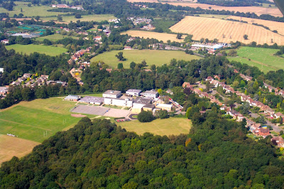Aerial photograph of Chancellor's taken by Paul Large of Falcon Media in September 2002
