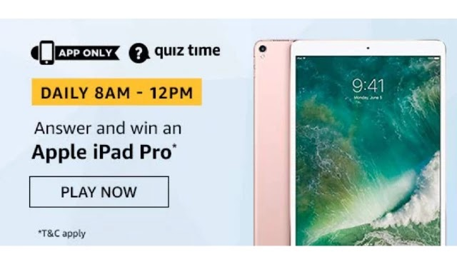 Amazon Apple iPad Pro Quiz Answers - Win Apple iPad Pro
