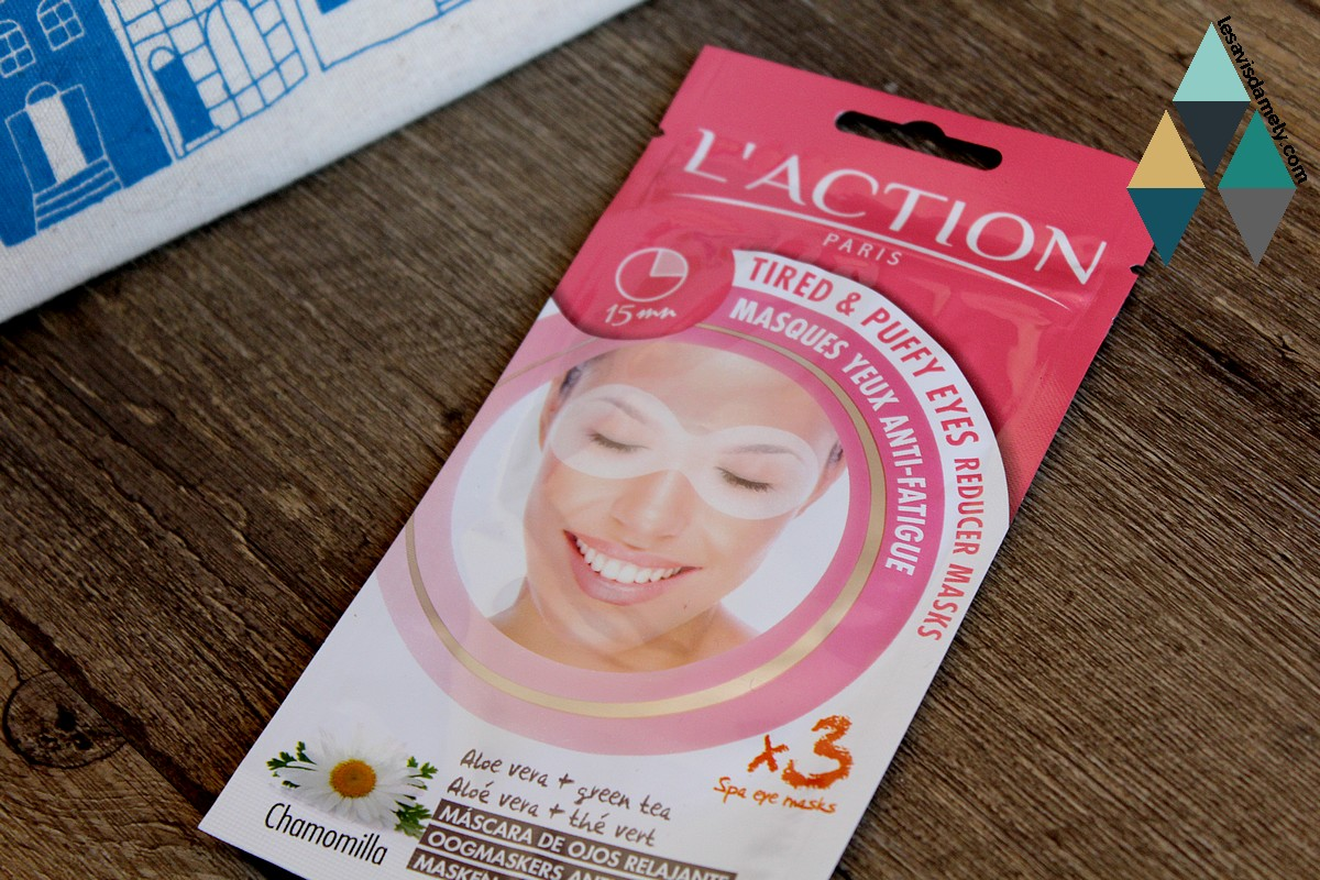 avis masque yeux anti fatigue poches l'action paris