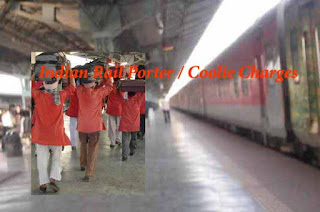 Indian Rail Porter Coolie Charges