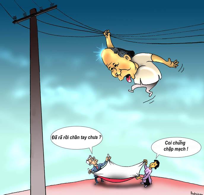 Phúc niểng và cột điện cao thế - Dân Làm Báo