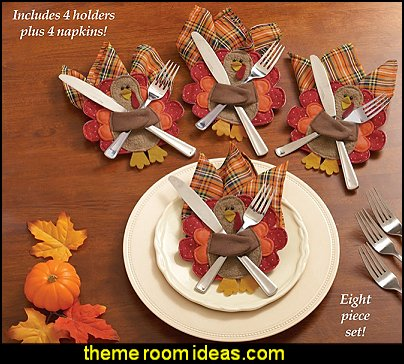 Thanksgiving Silverware & Napkin Holders