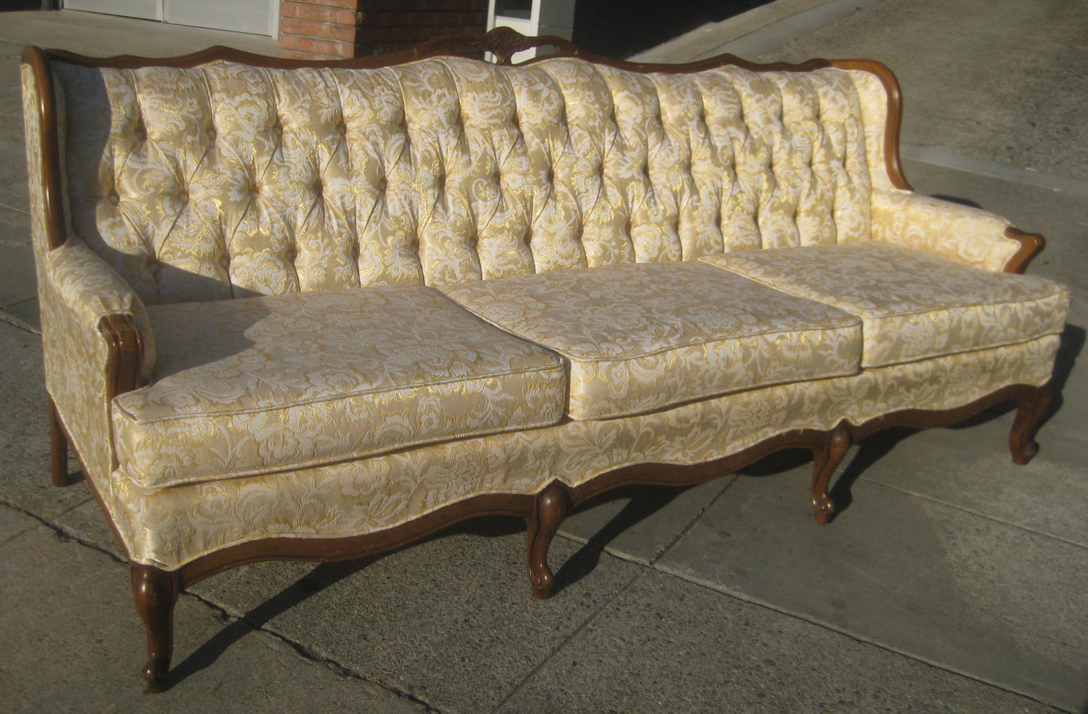 lounge couch remodel french leaf sofa w trend ivory ornate fabric longue chaise pin about in gold crystals nice style