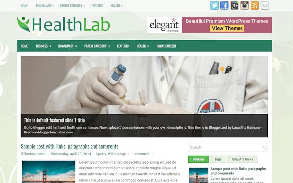 HealthLab Free Blogger Template
