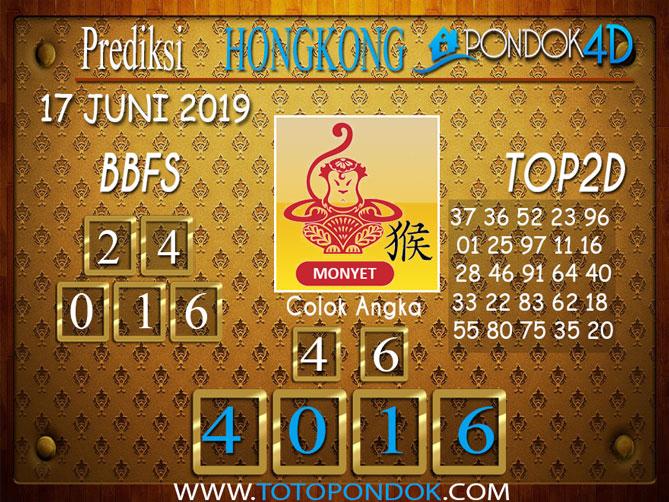 Prediksi Togel HONGKONG PONDOK4D 17 JUNI 2019