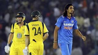 30-runs Record Over for Australia - James Faulkner 30 vs Ishant Sharma Highlights