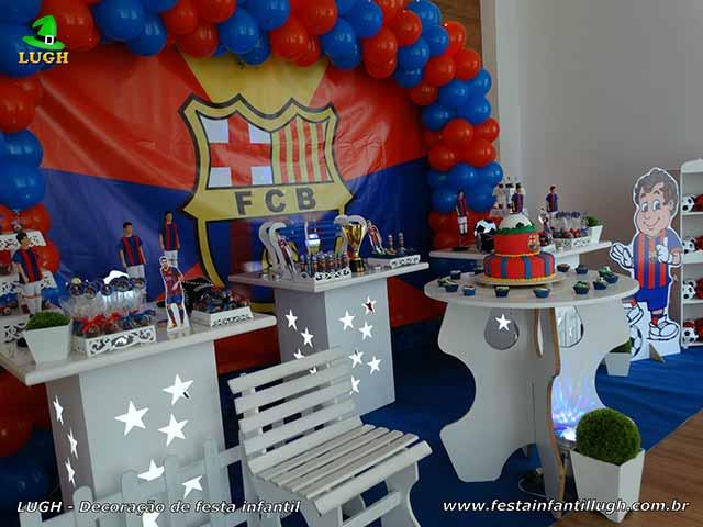 Decoração temática Barcelona para festa infantil