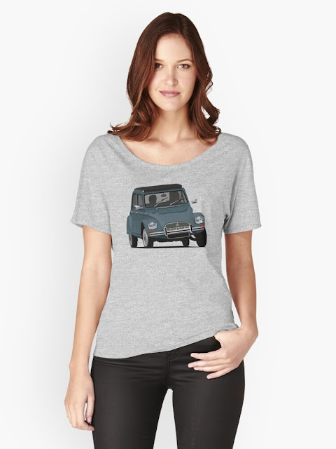 Citroën Dyane blue classic car - t-shirt