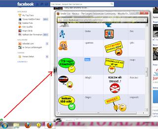 Memasang Emotion Lucu di Kolom komentar dan Chat Facebook 3