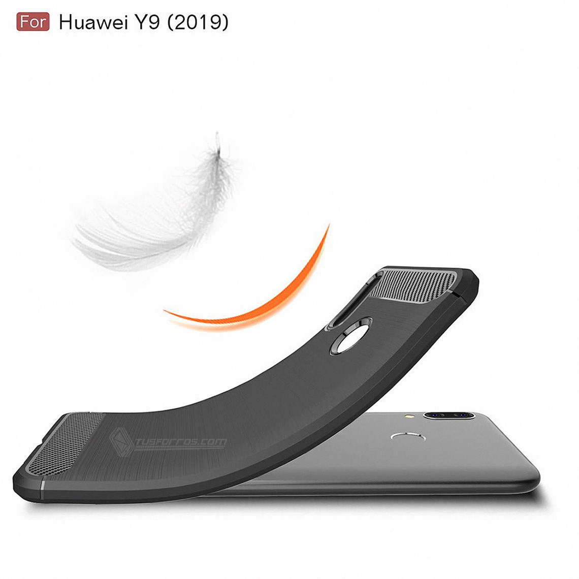 Huawei Y9 2019 Forro Fibra de Carbono Anti-Shock