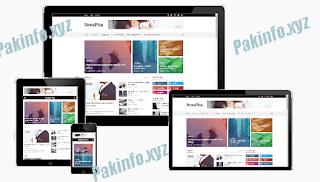 NewsPlus Blogger Template Premium Download