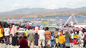 Meriahkan HSP Ke-92, DKP Kobi Gelar Lomba Perahu Hias di Pantai Kolo