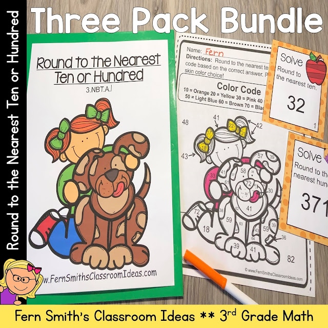 Click here to Download this3rd Grade Go Math 1.2 Round to the Nearest Ten or Hundred Bundle Resource for Your Classroom Today
