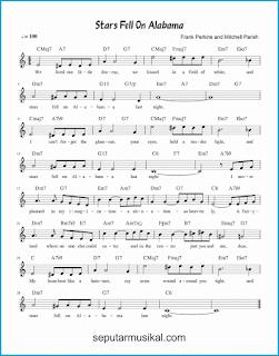 chord stars fell on alabama lagu jazz standar