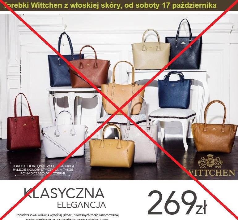 82dacfb61479e W poprzednim poście wspomniałam o mojej przygodzie z torebką marki Wittchen  nabytą w jednym ze sklepów Lidl. W zeszłym roku stoczyłam, podobnie jak  tysiące ...