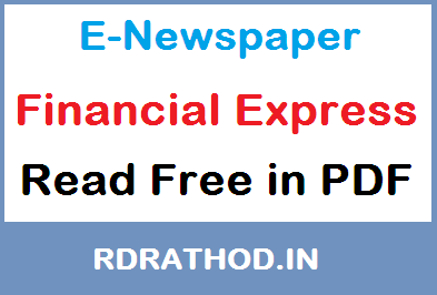Financial Express E-Newspaper of India | Read e paper Free News in English on Your Mobile @ ePapers-daily