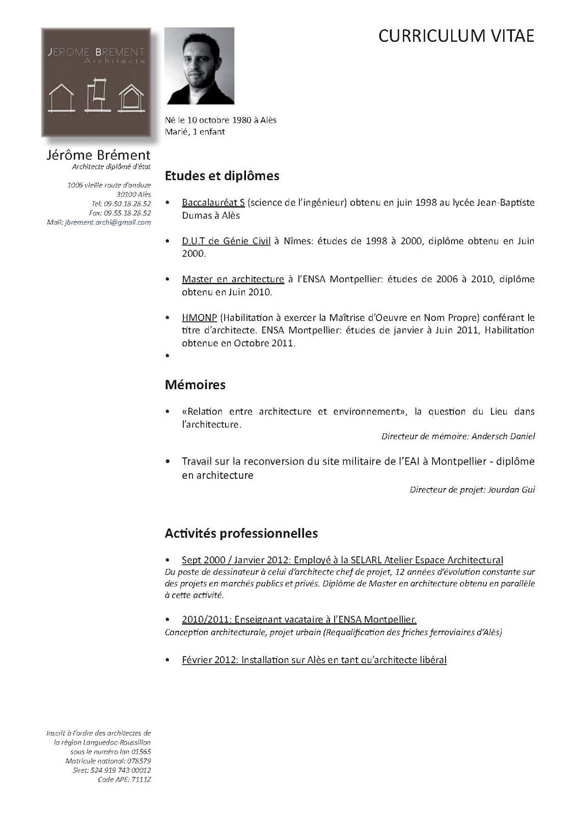 Maitrise D Oeuvre Montpellier cv | jérôme brément architecte
