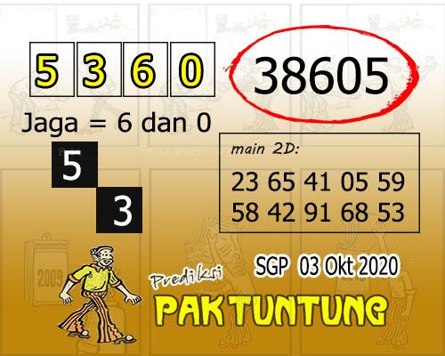 Pak Tuntung SGP Sabtu 03 oktober 2020