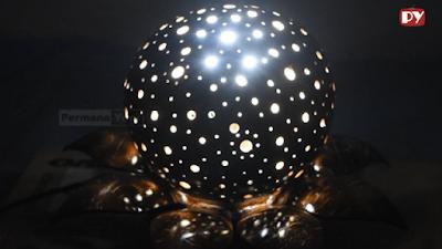 Jadi Gini Lho Cara Membuat Lampu Tidur Bentuk Bunga Teratai dari Tempurung Kelapa