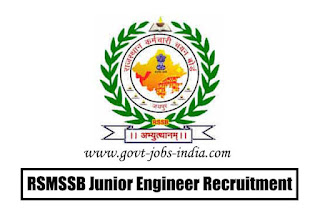 RSMSSB Junior Engineer Recruitment 2020