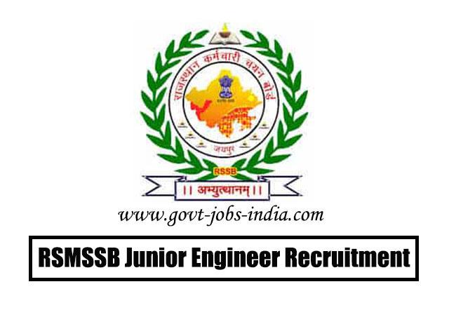 RSMSSB Junior Engineer Recruitment 2020 – 1054 Junior Engineer (JEN) Vacancy – Last Date 02 April 2020 (Postponed)