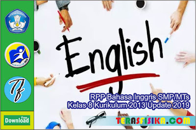 RPP Bahasa Inggris SMP/MTs kelas 8