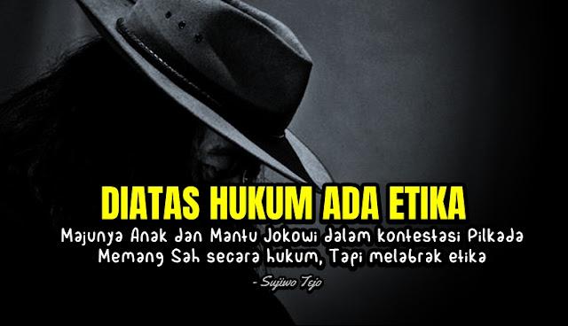 Demi Etika, Sujiwo Tejo Minta Anak dan Mantu Jokowi Mundur dari Pilkada