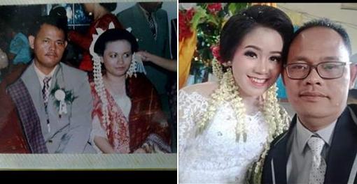 Foto-foto pernikahan SR dengan istri pertama dam istri kedua. (Foto: /tangkapan layar Facebook)