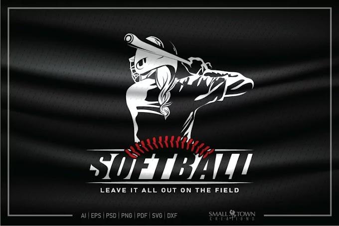 Softball SVG, Softball Player SVG, Softball, Team, Player
