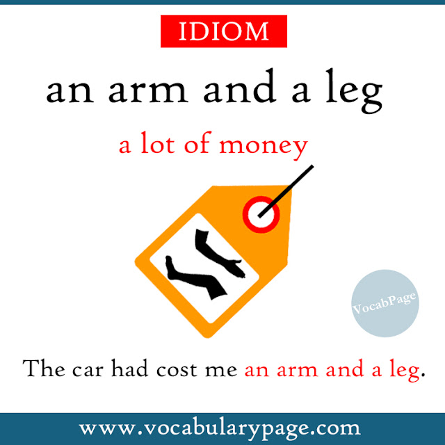 An arm and a leg idiom