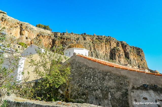 Ruínas do Castelo de Monemvasia, Grécia