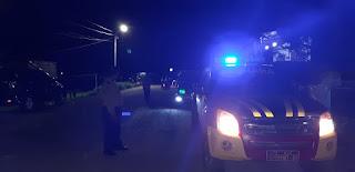 Polsek Maiwa Polres Enrekang Patroli blue light Di sekitar Wilayah Kecamatan Maiwa