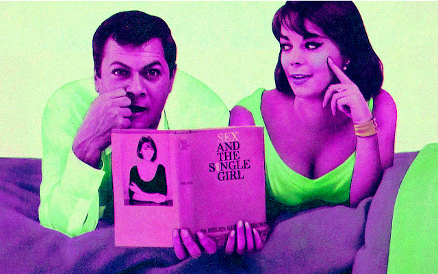 Natalie Wood e Tony Curtis no filme Sex and the single girl (1964), baseado no best seller de Helen Gurley Brown