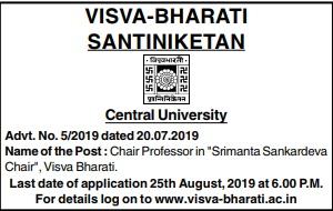 Visva Bharati Santiniketan Jobs