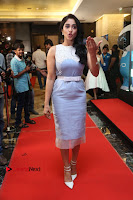 Actress Regina Candra Stills in Beautiful Sleeveless Blue Short Dress at SIIMA Short Film Awards 2017 .COM 0049.JPG