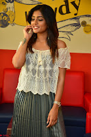 Eesha in a cute deep neck top and Skirt at at Big FM 125.JPG