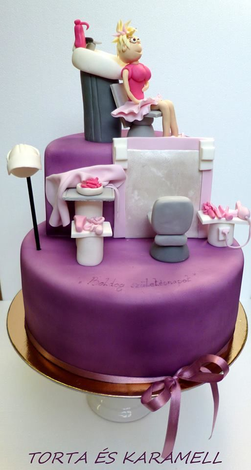 amazing cakes for hairdressers