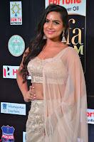 Prajna Actress in backless Cream Choli and transparent saree at IIFA Utsavam Awards 2017 0030.JPG