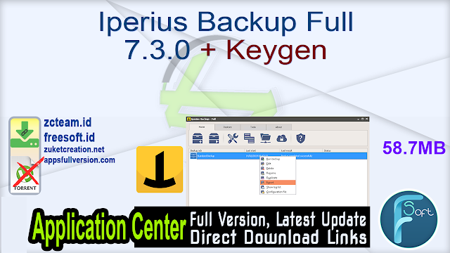 Iperius Backup Full 7.3.0 + Keygen