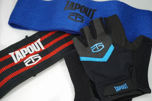 Tapout UK weightlifting gloves and bands for resistance training for glutes and legs