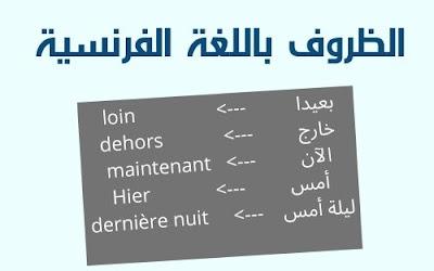 درس الظروف في اللغة الفرنسية