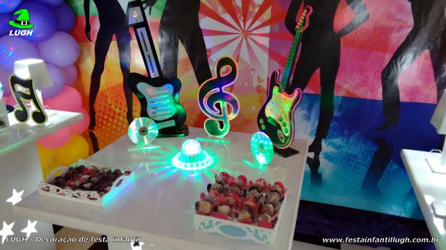 Tema discoteca para aniversário de meninas- decoração - festa infantil