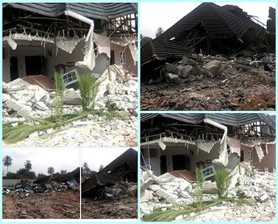 Don Waney's multi-million mansion in Omoku demolished