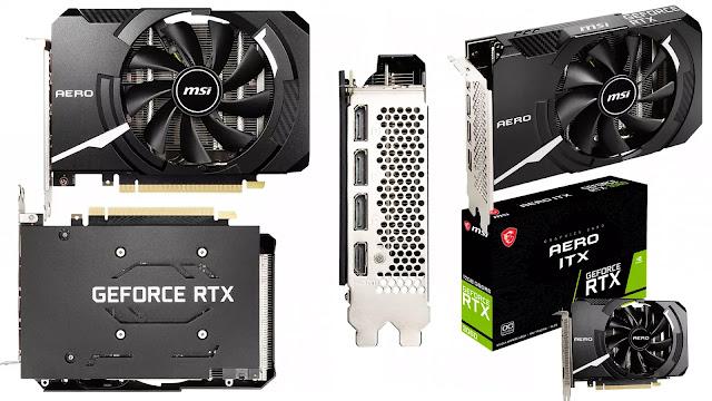 MSI-GeForce-RTX-3060-12GB-Aero-ITX-OC-Top-Front-Side-Back-IO-Box-View