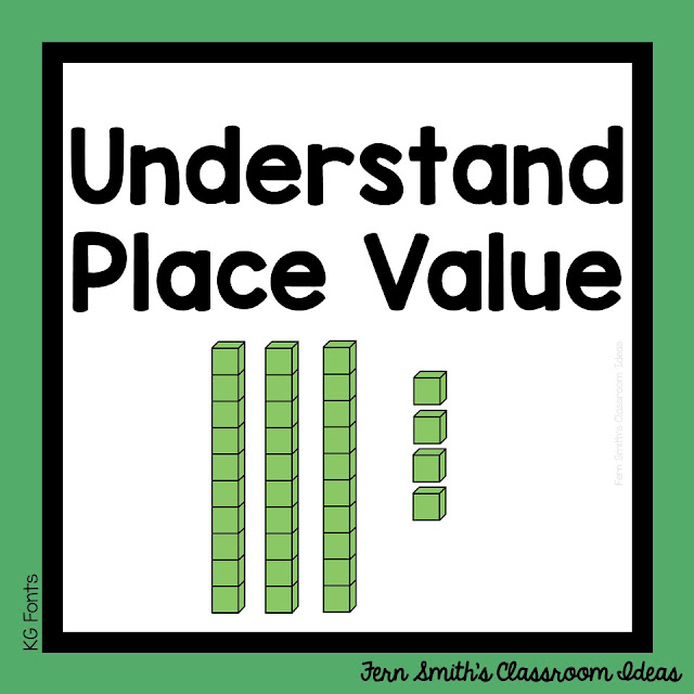 Second Grade Go Math 1.3 Understanding Place Value Lesson Plans, Task Cards, Center Games and Color By Number Resources. #FernSmithsClassroomIdeas