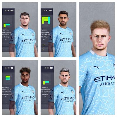 PES 2021 Facepack Manchester City