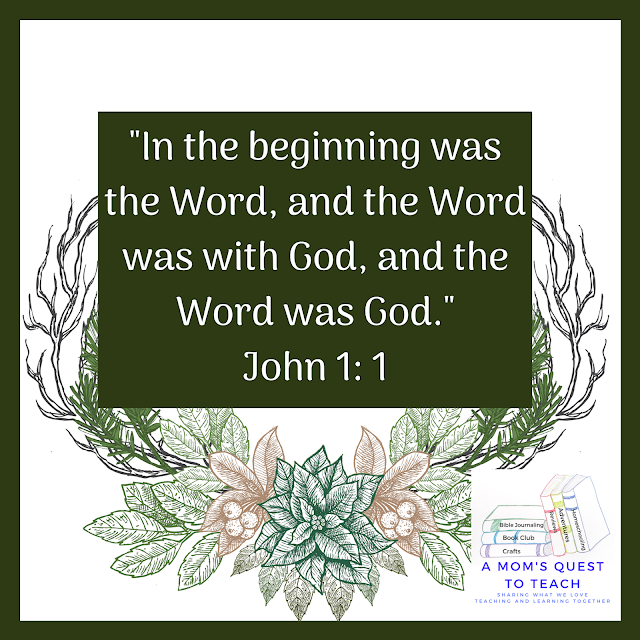 "Text: ""In the beginning was the Word, and the Word was with God, and the Word was God."""
