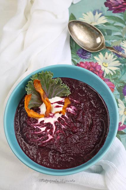 fioletowa marchew, zupa z fioletowej marchewki, zupa marchewkowa, daylicooking