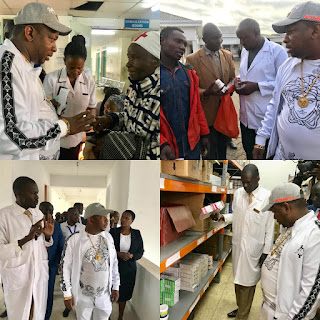 Governor Sonko impromptu visit at Mama Lucy hospitals. Photo CN