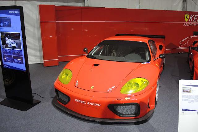 Roter Kessel Racing Ferrari 360 GTC auf Sonderausstellung in St. Moritz- 70 Jahre Ferrari